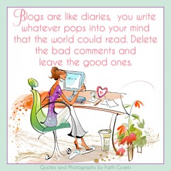 Girl blogging
